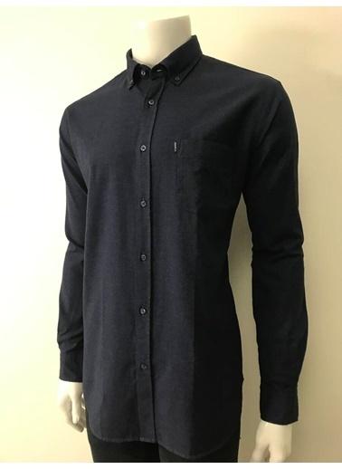 Abbate Baharlık Flanel Regular Fıt Denımlook Gömlek Lacivert